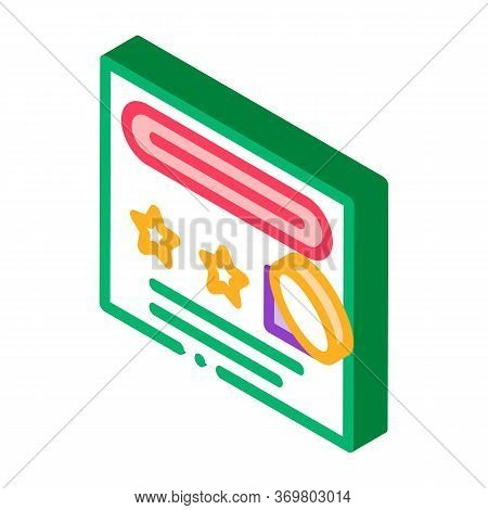 Number Guessing Sheet Icon Vector. Isometric Number Guessing Sheet Sign. Color Isolated Symbol Illus