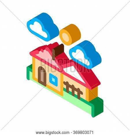 Urban Residential Landscape Icon Vector. Isometric Urban Residential Landscape Sign. Color Isolated