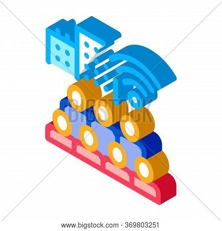 Residents Connect Wi-fi Icon Vector. Isometric Residents Connect Wi-fi Sign. Color Isolated Symbol I