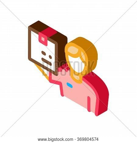 Receipt Of Parcel Icon Vector. Isometric Receipt Of Parcel Sign. Color Isolated Symbol Illustration
