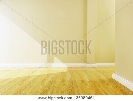 Empty Room Of Interior Design 3D Rendering