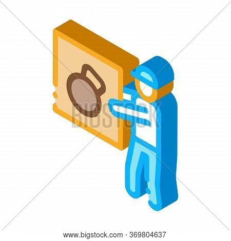 Loader Icon Vector. Isometric Loader Sign. Color Isolated Symbol Illustration