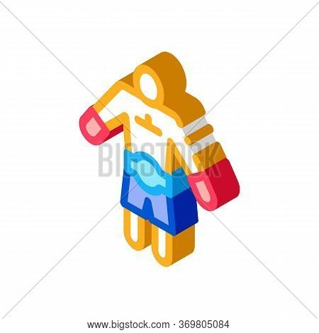 Winner Boxer Icon Vector. Isometric Winner Boxer Sign. Color Isolated Symbol Illustration