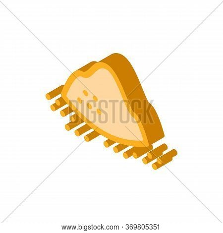 Sugar Sand Heap Icon Vector. Isometric Sugar Sand Heap Sign. Color Isolated Symbol Illustration