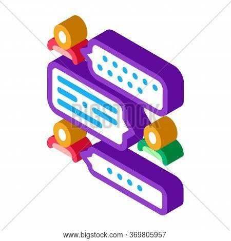 Speech Therapy Icon Vector. Isometric Speech Therapy Sign. Color Isolated Symbol Illustration
