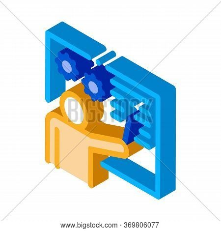 Technical Lesson Icon Vector. Isometric Technical Lesson Sign. Color Isolated Symbol Illustration