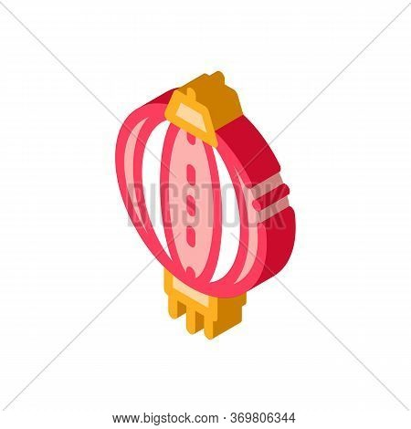 Asian Lantern Icon Vector. Isometric Asian Lantern Sign. Color Isolated Symbol Illustration