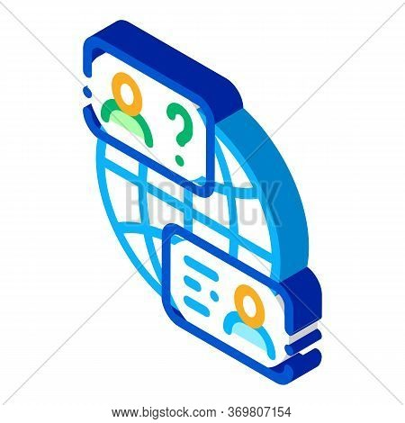 World Aid Forum Icon Vector. Isometric World Aid Forum Sign. Color Isolated Symbol Illustration