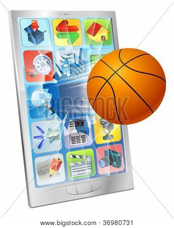 Basketball Ball Mobile Phone