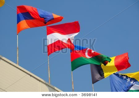 Various National Flags