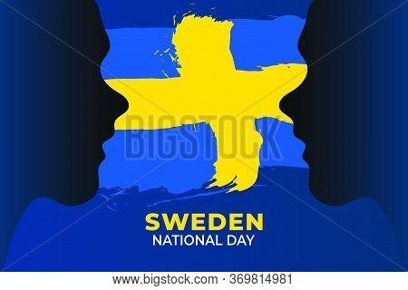 Sveriges Nationaldag (translate: Sweden National Day) Is The Sweden National Day And Republic Day, W