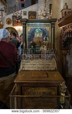 Jerusalem, Israel, December 28, 2018 : The Interior Of The Church Of Nativity In Bethlehem In Palest