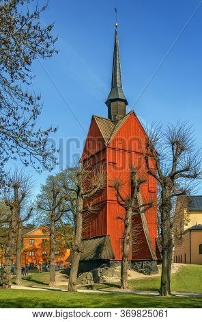 Bell Tower Of St. Johannes Church Was Built In 1692 In Central Stockholm, Sweden
