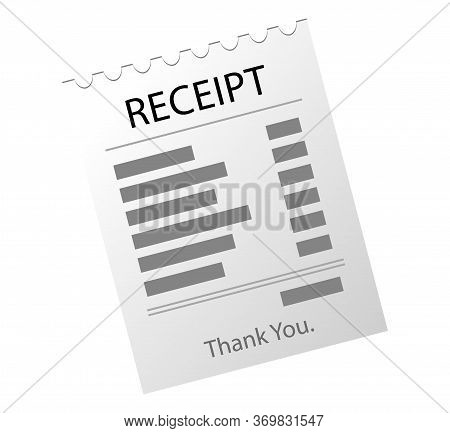 Paper Checks, Receipts. Receipt Icon, Paper Receipt.