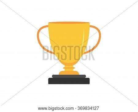 Champion Trophy. Cup Of Winner. Gold Prize For Best Champion. Ceremony Congratulation. Award Symbol.
