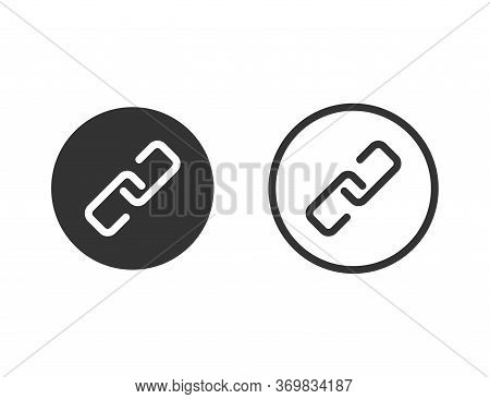Chain Link Icon. Isolated Connection Symbol. Linked Vector. Attach File Or Document Chain. Simple Lo