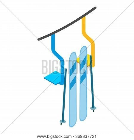 Ski Resort Icon. Isometric Illustration Of Ski Resort Vector Icon For Web