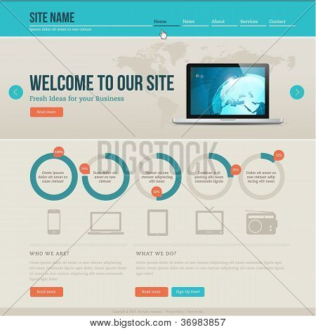 Vintage website template