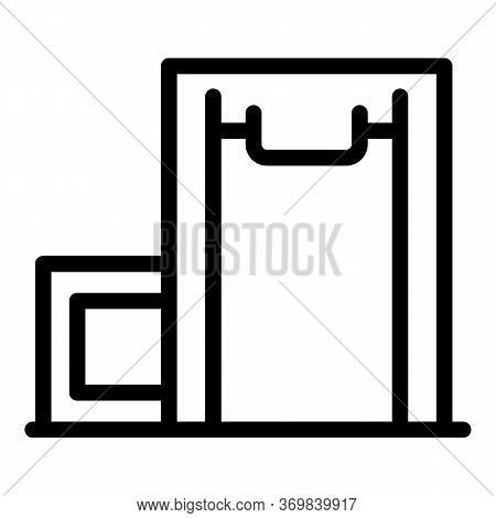 Equipment Metal Detector Icon. Outline Equipment Metal Detector Vector Icon For Web Design Isolated