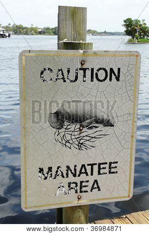 Manatee Caution Sign