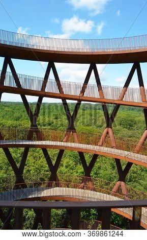Spiral Tower Of Camp Adventure. Gisselfeld Klosters - Haslev - Denmark .