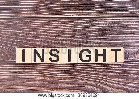 Insight Word Made With Wood Building Blocks