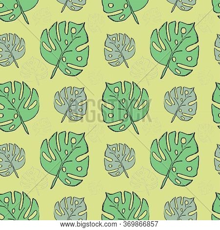 Green Leaves. Nature Background For  Wrapping Paper, Covers, Fabric, Pillows, Bedding, Pattern Fills