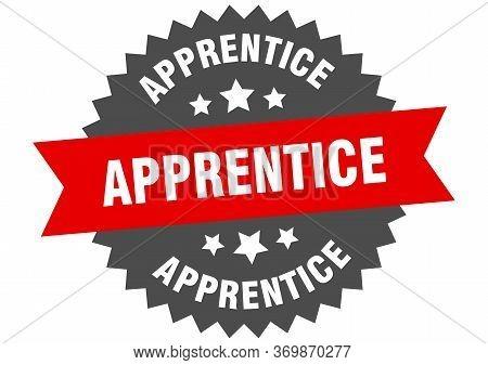 Apprentice Sign. Apprentice Circular Band Label. Round Apprentice Sticker