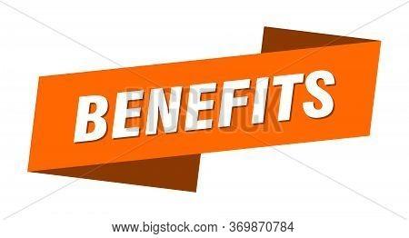 Benefits Banner Template. Benefits Ribbon Label Sign