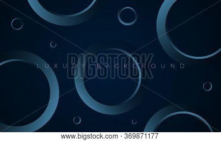 Luxury Premium Wallpaper Illustration. Modern Dark Blue Background With Stylish Aquamarine Geometric