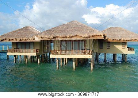 Palawan, Ph - Nov 30 - Cottage Facade At Dos Palmas Island Resort On November 30, 2009 In Honda Bay,