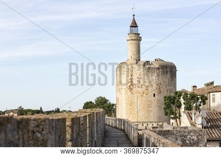 Tower Of The Fortress In The Town Of Aigues-mortes, Southern France