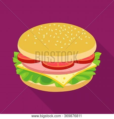 Isolated Object Of Bun And Cheese Icon. Web Element Of Bun And Bacon Stock Vector Illustration.