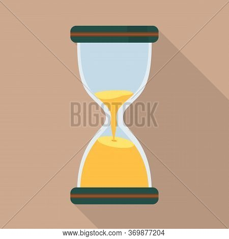 Vector Illustration Of Sandglass And Timer Logo. Graphic Of Sandglass And Minute Vector Icon For Sto