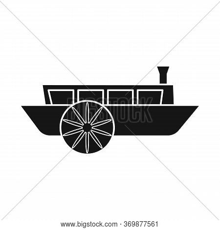 Vector Design Of Wagon And Carriage Sign. Graphic Of Wagon And Old Vector Icon For Stock.