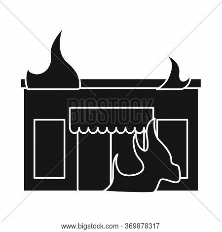 Vector Illustration Of Score And Flame Sign. Set Of Score And Library Stock Vector Illustration.