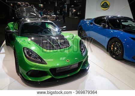 Paris, Ile De France / France - October 07 2018 : Mondial Paris Motor Show Lotus Exige Cup 430