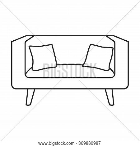 Sofa Vector Icon.line Vector Icon Isolated On White Background Sofa .
