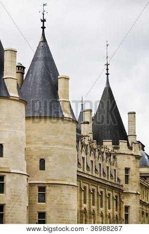 Historical Conciergerie Prison In Paris, France