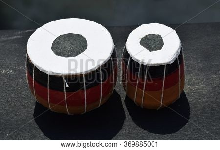 Miniature Version Of Indian Musical Instrument Tabla Which Is Made Up Of Mud.