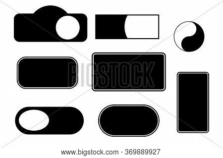 Set Of Blank Labels, Tags And Stickers.
