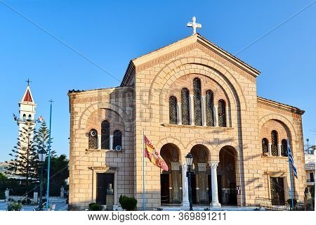 Orthodox Cathedral Of Saint Dionysus In The Capital Of Zakynthos Island In Greece