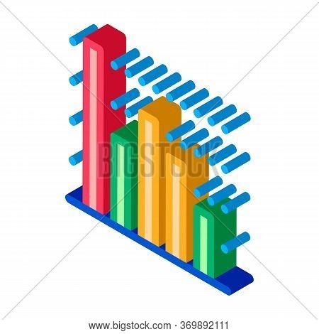 Statistician Infographic Icon Vector. Isometric Statistician Analytic Info Graphic, Statistic Diagra