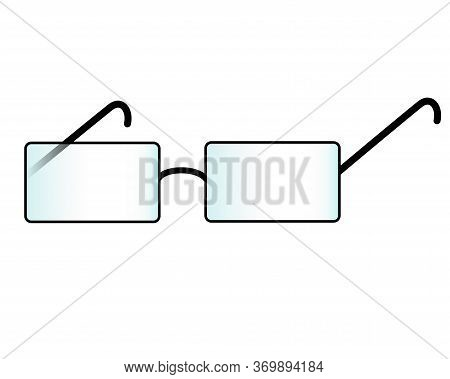 Glasses - Vector Multicolored Element. Glasses Pictogram Or Sign For The Corporate Identity Of An Op