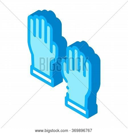 Master Gloves Icon Vector. Isometric Master Gloves Sign. Color Isolated Symbol Illustration