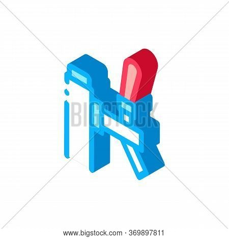 Bar Beer Faucet Icon Vector. Isometric Bar Beer Faucet Sign. Color Isolated Symbol Illustration