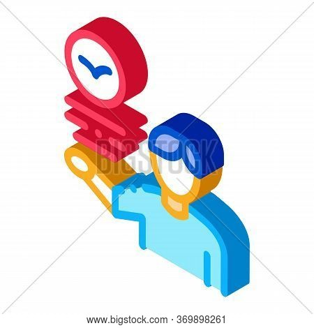 Human Talking About Bird Icon Thin Line Vector. Man Ornithologist Talk About Bird, Fly Animal And Te