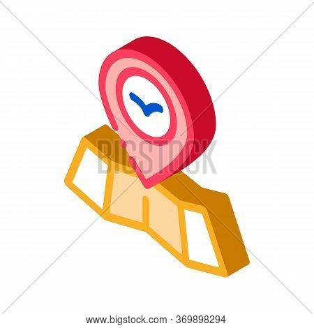 Bird Gps Mark Pin On Map Icon Thin Line Vector. Bird Location And Position, Cartography Research Ani