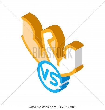Arm Wrestling Icon Vector. Isometric Arm Wrestling Sign. Color Isolated Symbol Illustration