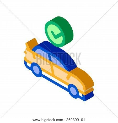 Fixed Car Icon Vector. Isometric Fixed Car Sign. Color Isolated Symbol Illustration